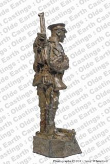 WWI Old Contemptible Cold Cast Bronze Military Statue Sculpture