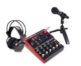 Jammin Pro Studiopack 702 Pro Recording Studio Pack w Mixer Headphones