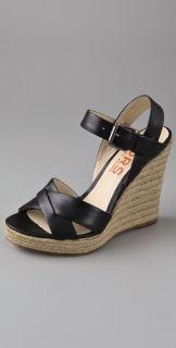 KORS Michael Kors Waverly Crisscross Wedge Sandals