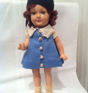 Madame Alexander Early Vintage Jane Withers Doll Signed Composition 14