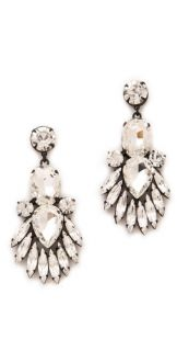 Noir Jewelry Nightfall Crystal Drop Earrings