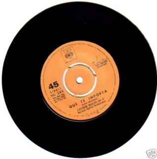 Javier Solis Que TE Importa 45 Chile CBS SG 544 1958