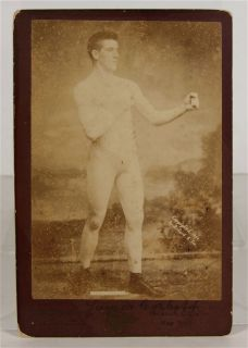 1890 JAMES J. CORBETT WORLD HEAVYWEIGHT BOXING CHAMPION CABINET CARD