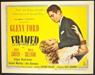 49 TC & LC #3, #4, #5, #6 & #7 ~ GLENN FORD & JANIS CARTER FILM NOIR