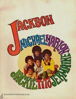 Michael Jackson 5 1970 ABC Tour Concert Program Book