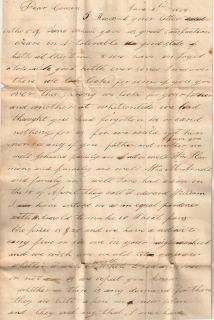 1834 Virginia F L w Manuscript Town Mark Woodville Dennis Family
