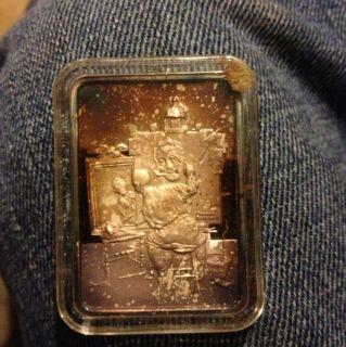 Norman Rockwell Best Loved 1oz .999 Pure Silver Bar Triple Self
