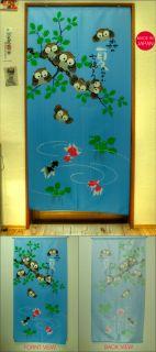 Home Deco Japanese Style Door Window Curtain Summer Noren 170cm x 85cm