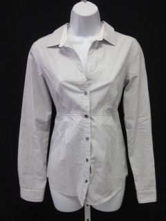 James Perse Striped Button Down Long Sleeve Shirt Sz 2