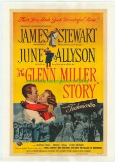 Glenn Miller Story Movie Poster lb 1954 James Stewart