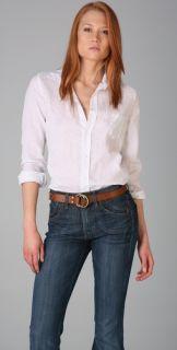 Frank & Eileen White Linen Shirley Shirt