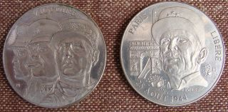 WW2 RARE 5 Commemorative Coins France Liberation Events Generals