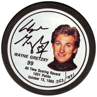 Wayne Gretzky Autographed Signed Los Angeles Kings Hockey Puck PSA DNA