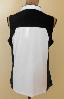 DKNY by Jamie Sadock Sleeveless Pure White Golf Shirt Top Medium 21621