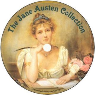 Jane Austen Collection 10 Audio Books on 1 DVD Audio  Files