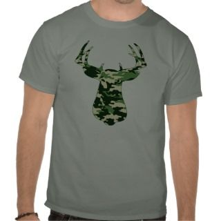 Deer Hunting Camo Buck Tee Shirt