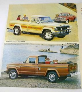 1982 82 Jeep Pickup Truck Brochure J10 Laredo Honcho