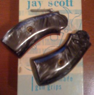 Iver Johnson Black Pearl Grips Fis 32 and 38 Cal Jay Sco