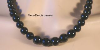 Jay King Mine Finds Glossy Black Agate Graduated Bead Necklace
