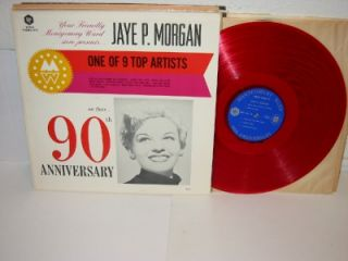 Jaye P Morgan Montgomery Ward 90th Anniversary Red LP