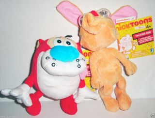 Jazwares x Nicktoons Ren Stimpy Talking Plush Set