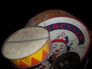 Early 1930s Chein Hercules Jazz Band Drum Set w Drum Sticks