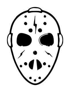 Friday THE13TH Jason Voorhees Mask Vinyl Decal Sticker