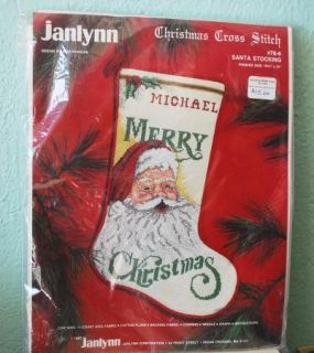 Vintage Janlynn Cross Stitch Stocking Kit Christmas Santa Claus 78 6