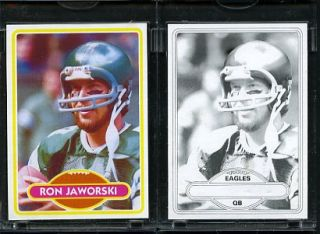 1980 Topps Football Proof Cards Ron Jaworski Eagles