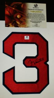 Jason Varitek Boston Red Sox Captain Hand Signed Jersey Number