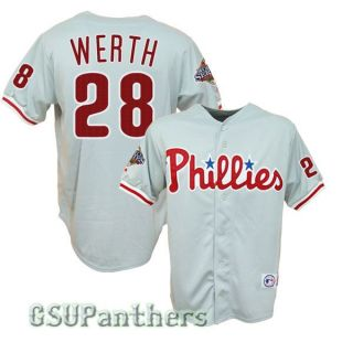 Jayson Werth Philadelphia Phillies 2008 World Series Road Jersey Sz M