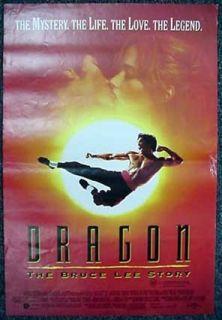 Dragon The Bruce Lee Story 1993 Daybill Jason Scott Lee