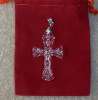 Waterford Crystal Cross Pendant New
