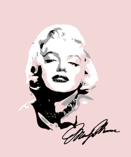 Wall Marilyn Monroe Decal for Any Room Autograph Sticker Movie Star