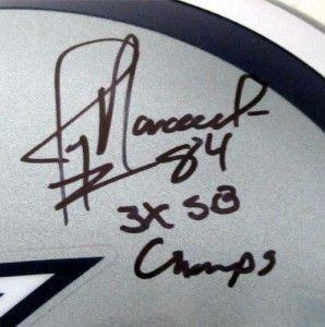 Daryl Moose Johnston Jay Novacek Autographed Dallas Cowboys Helmet