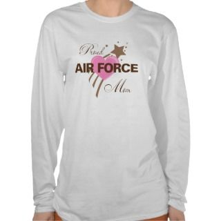 Proud Air Force Mom Heart Shirt