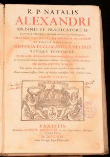 1714 8VOL Historia Ecclesiastica Veritas Dissertationibus Illustrata