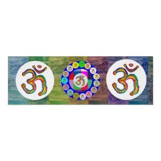 Om Mantra OmMantra Round Poster