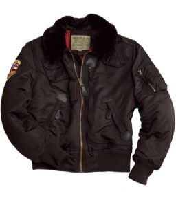 Alpha Industries B 15 Injector Jacket Coat Yellow Black Brown Replica