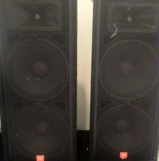 Pair JBL JRX100 Series Speakers 2x15 w Horns Model JRX125