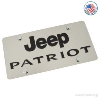 Jeep Logo Patriot Name Stainless Steel License Plate