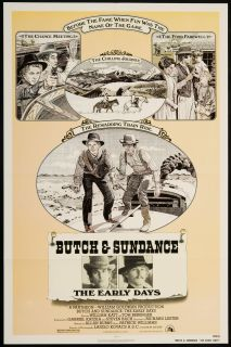 Butch Sundance The Early Days 1979 Original U s One Sheet Movie Poster