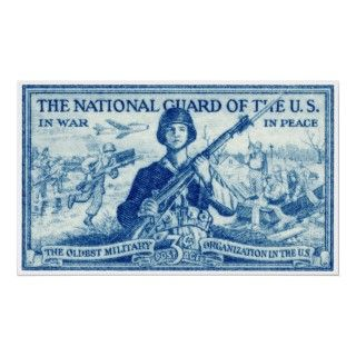 The 1953 National Guard Stamp, honoring the members of Americas