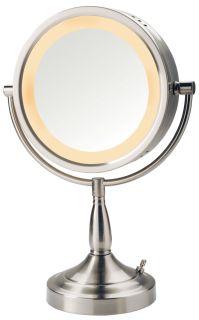 Jerdon First Class 7x Halo Light Vanity Makeup Mirror LT856N