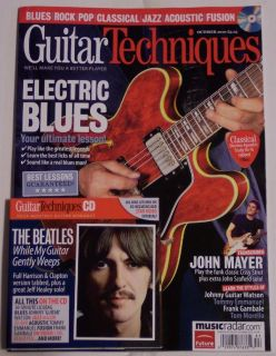 GUITAR TECHNIQUES October 2010 + CD ELECTRIC BLUES Beatles GEORGE