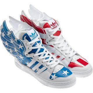 Adidas Originals Jeremy Scott Sz 10 5 JS Wings 2 0 US Flag Shoes