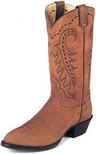 Tony Lama Mens Suede Brown Western Boot TM2001