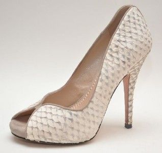 Jean Michel Cazabat Kari Bone Fish Scale Pumps Shoes 7