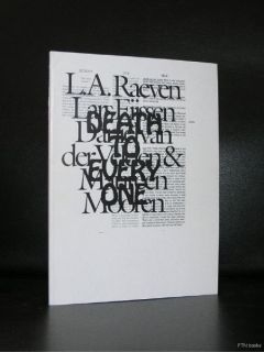Stedelijk Museum L A Raeven 2004nm T Artist Book