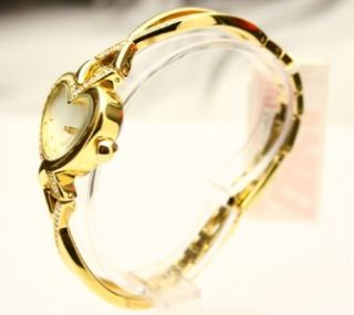 Jennifer Lopez JLO Ladies Heart Shape Gold Tone Watch
